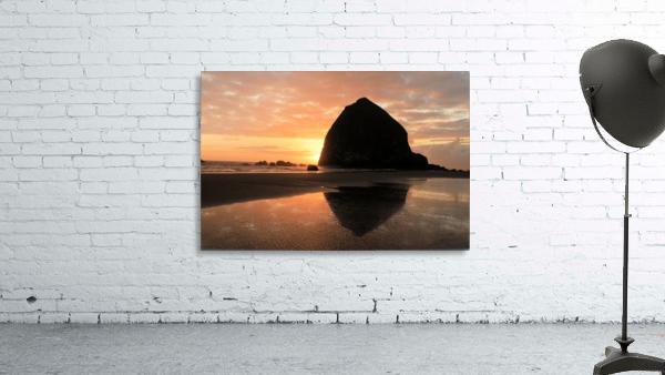 Haystack Rock at Sunset