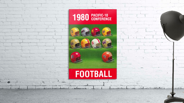 1980 Pac 10 Football Poster