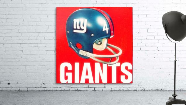 Vintage New York Giants Football Helmet Art