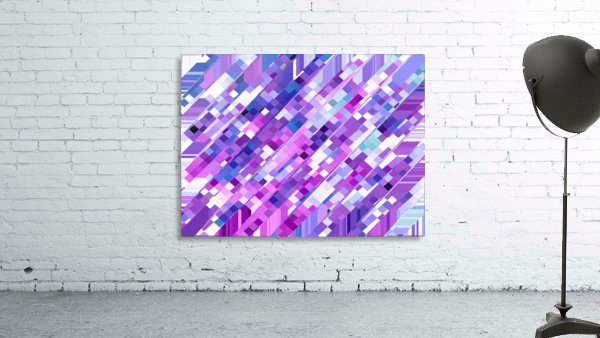 geometric square pixel pattern abstract background in purple pink