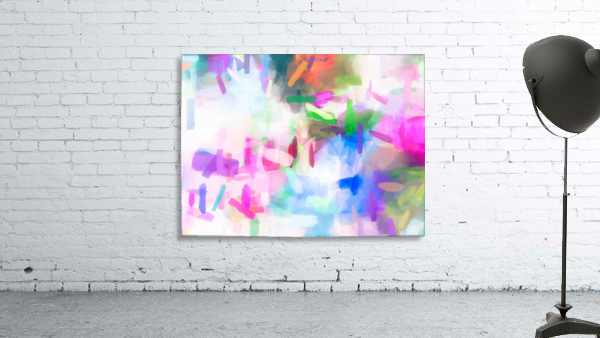 splash painting texture abstract background in pink blue green