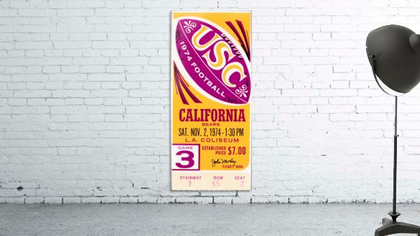 1974 usc california football ticket stub reproduction print