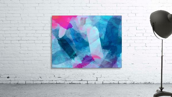 splash painting texture abstract background in blue pink