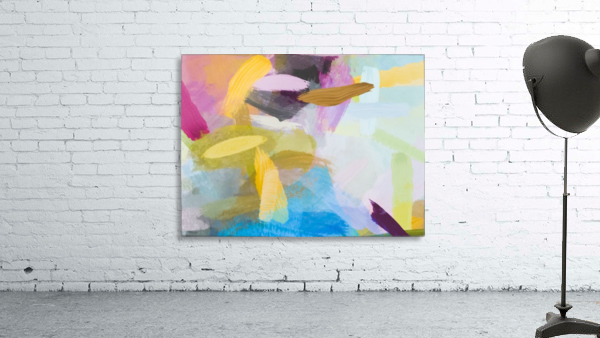 splash painting texture abstract background in yellow blue pink