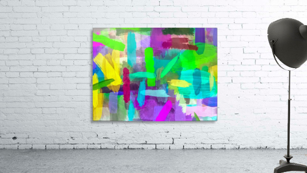 splash brush painting texture abstract background in green blue pink purple