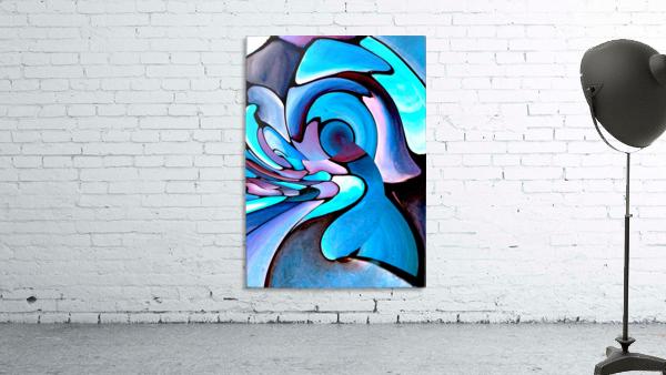 Twisted Splash of Blue Shapes