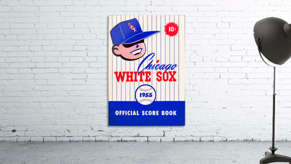 1955 chicago white sox mlb baseball score book poster