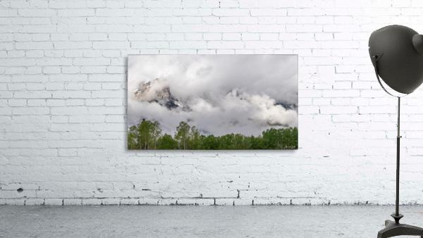 Billowy Clouds Surround Rundle Mountain