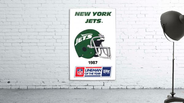 1987 New York Jets Helmet Art