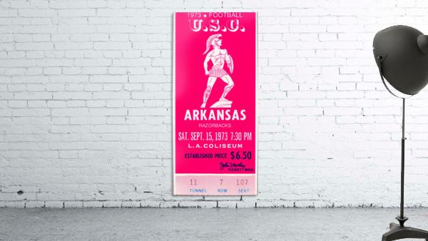 1973 usc trojans arkansas college football ticket stub art