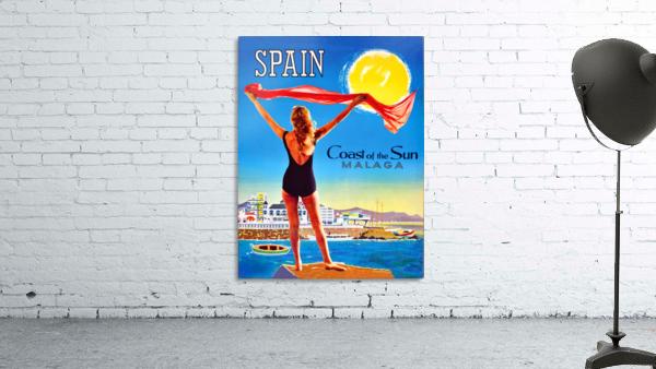 Girl on Malaga Beach