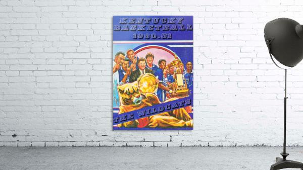 1980 kentucky wildcats basketball poster ted watts sports artist