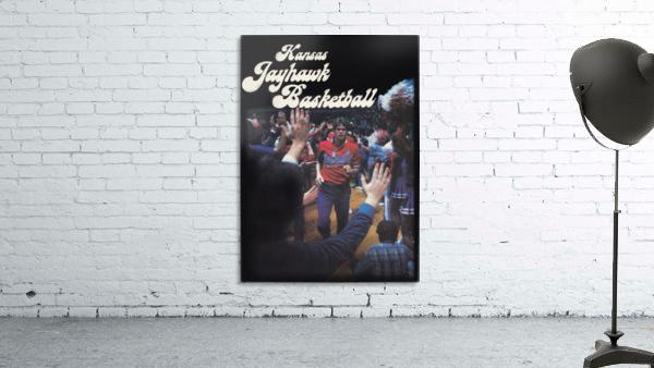vintage kansas jayhawks basketball poster ku 1982