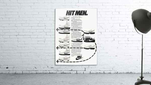 Hit Men Nike Shoes Ad Poster Reproduction 1982