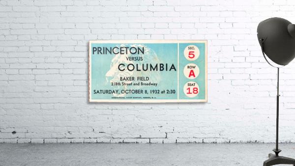 1934 Princeton vs. Columbia Lions Football Ticket Wall Art