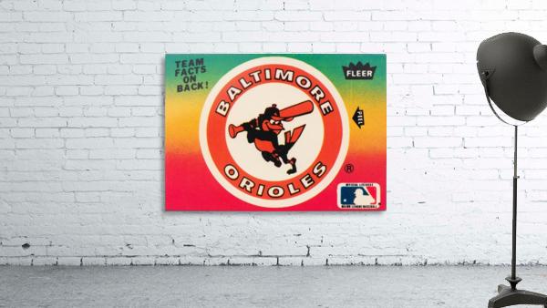 1983 fleer baseball stickers baltimore orioles wood print