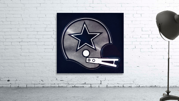 vintage dallas cowboys nfl helmet art