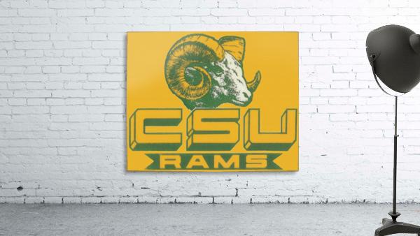 vintage colorado state university rams wood sign