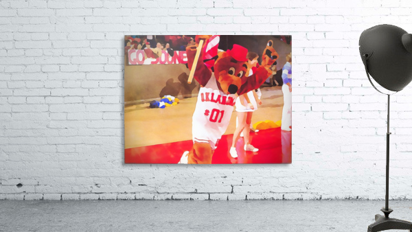 college mascot art top daug oklahoma sooners basketball art
