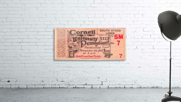 1927 cornell penn ivy league football ticket stub collection