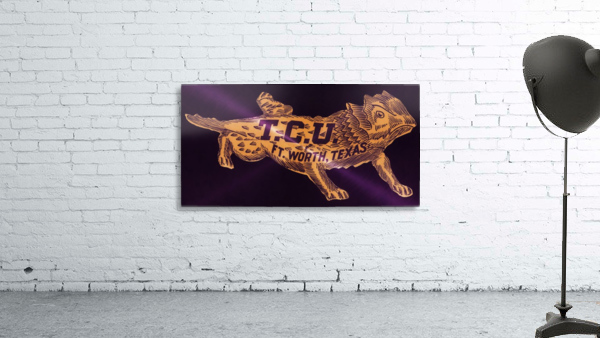 vintage college mascot art tcu horned frogs ft worth texas