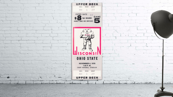 1978 ohio state wisconsin big 10 college football ticket art