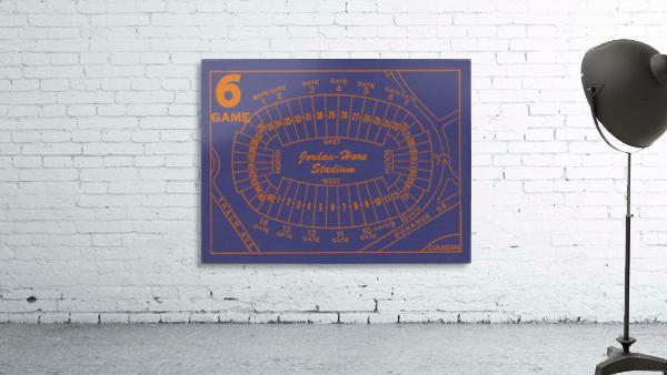 1979 Auburn Tigers Jordan Hare Stadium Map