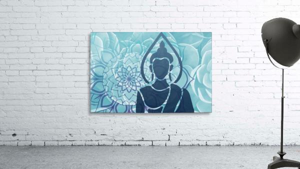Buddha Mandala blue turqouise
