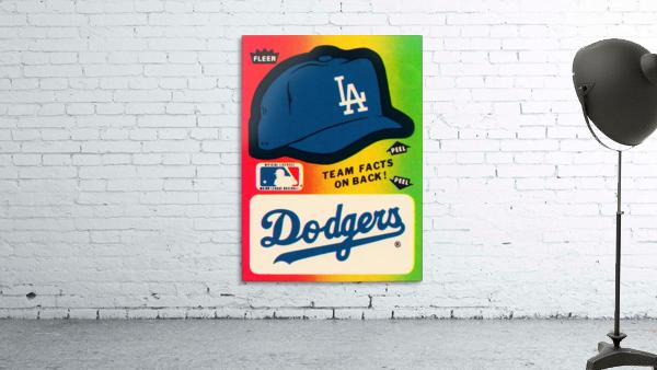 1983 fleer baseball stickers la dodgers ballcap art
