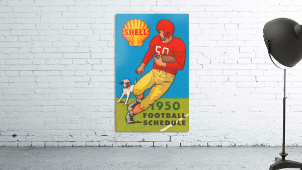 1950 shell oil football schedule poster