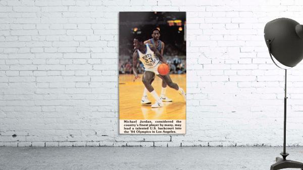 1984 michael jordan north carolina poster