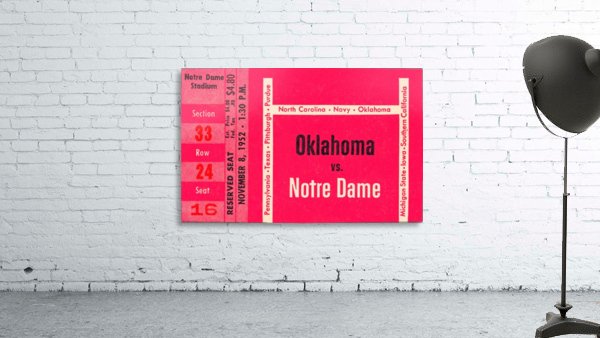 1952 Oklahoma vs. Notre Dame 1st National TV Game