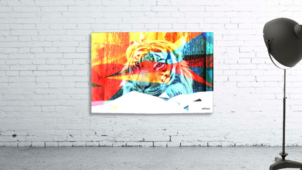 TIGER IN ABSTRACT FORM
