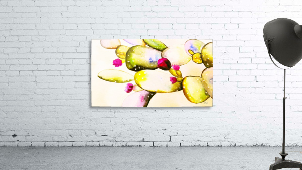 water color cactus flower