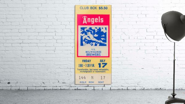 1981 california angels baseball ticket stub sports wall art