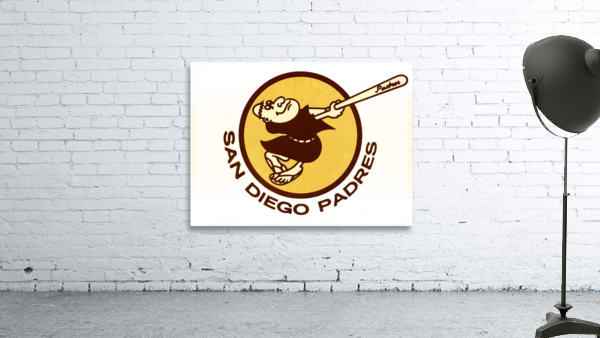 1980 san diego padres logo wall art