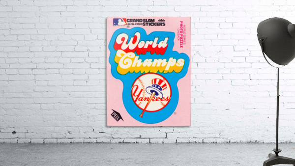 1979 fleer sticker new york yankees world champs poster