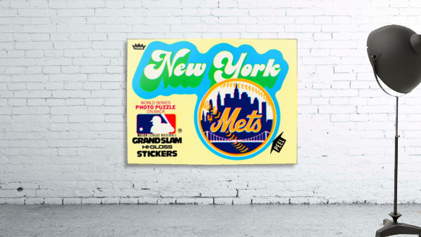 1979 fleer hi gloss sticker new york mets wall art
