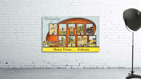 1954 notre dame football south bend art
