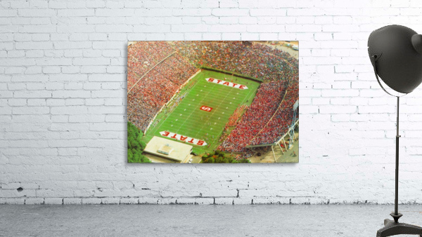 1985 nc state wolfpack carter finley stadium raleigh north carolina college football aerial photo
