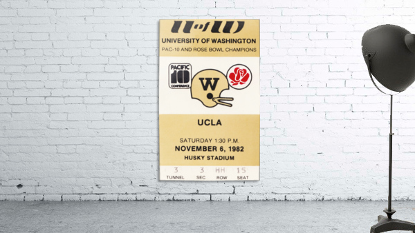 1982 uw huskies washington ucla football ticket stub canvas husky stadium seattle ticket