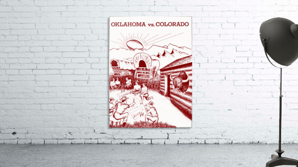 1954 oklahoma sooners colorado buffaloes football program canvas artwork