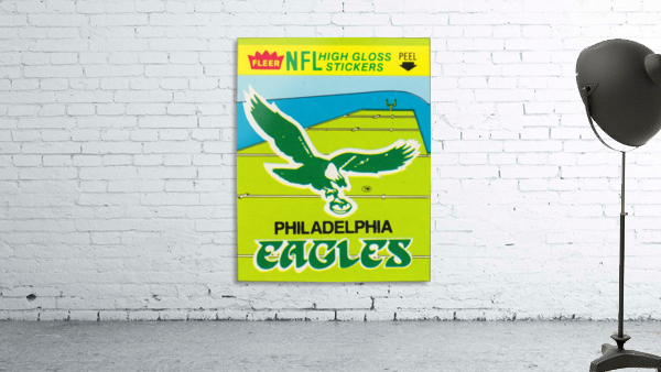 1981 fleer nfl high gloss stickers philadelphia eagles wall art