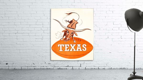 1957 texas longhorns vintage football art