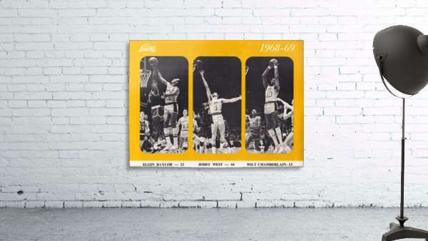 1968 los angeles lakers poster