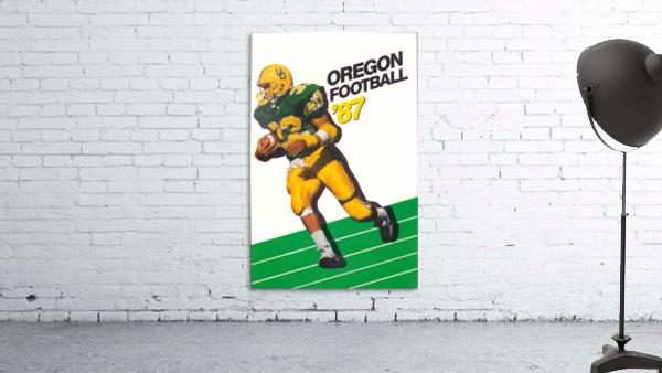 1987 oregon ducks retro football poster