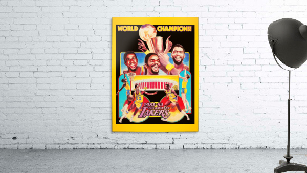 1982 LA Lakers Champion Poster