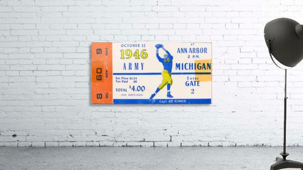 1946 michigan army ann arbor college football ticket art