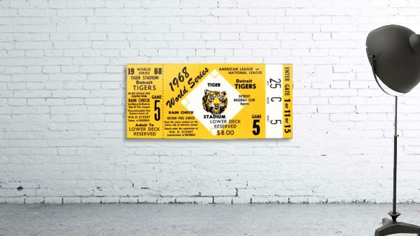 1968 Detroit Tigers World Series Ticket Art