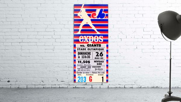 1985 Montreal Expos vs. San Francisco Giants